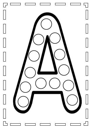 planches de gommettes des lettres de l'allphabet à télécharger