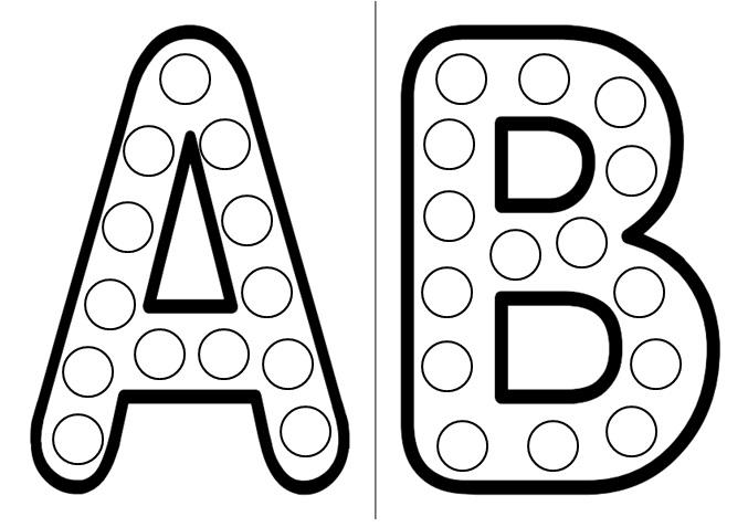 planches de gommettes des lettres de l'alphabet à télécharger