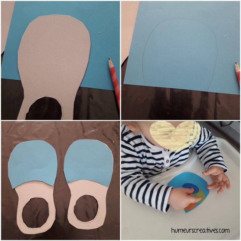 fabriquer des chaussures de clown en carton