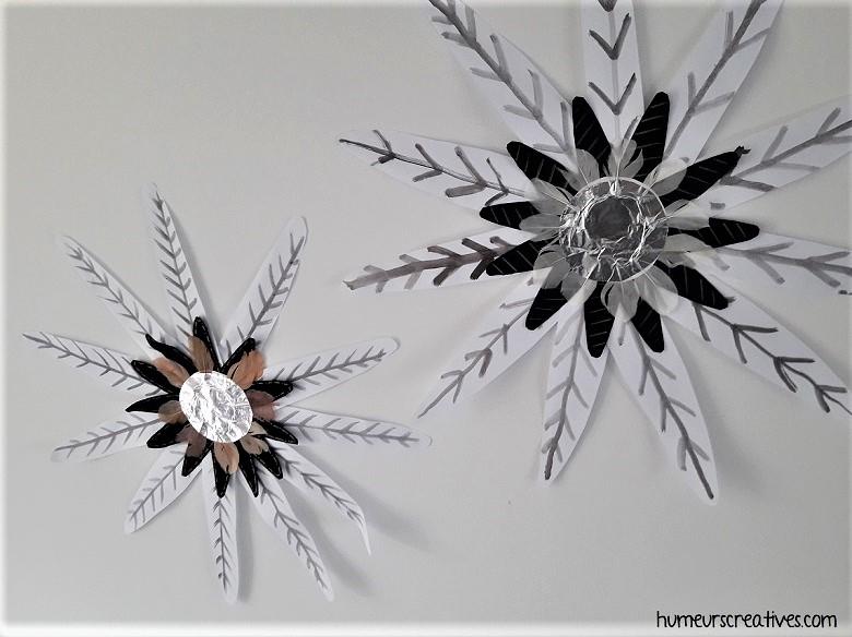 décoration d'hiver à accrocher au mur de la maison