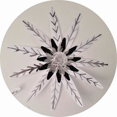 DIY déco maison : fabriquer une fleur d'hiver