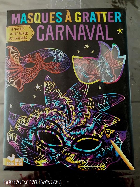 kit masques à gratter carnaval