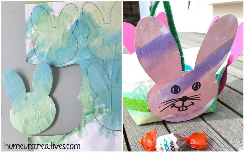 décorer les lapins pour coller sur le panier de paques