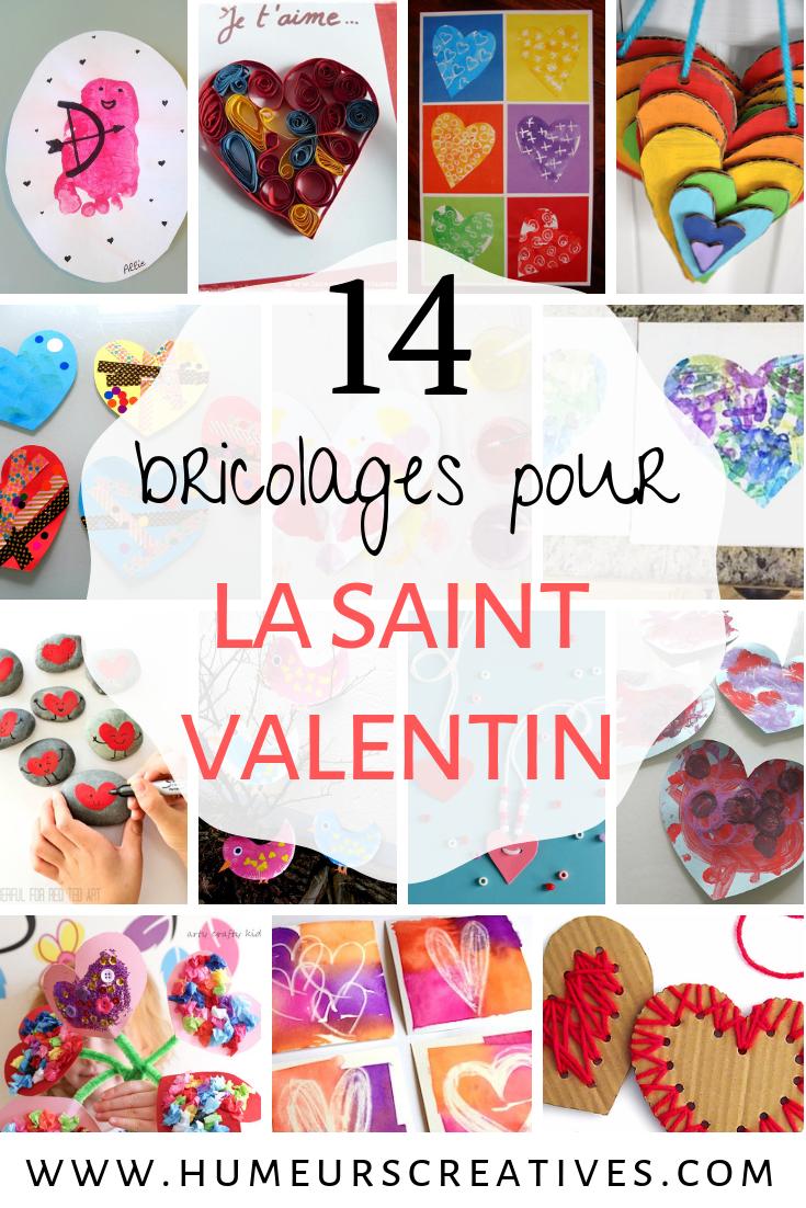 Des idées de bricolages pour enfants pour la saint valentin