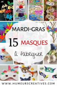 15 bricolages de masques pour mardi gras