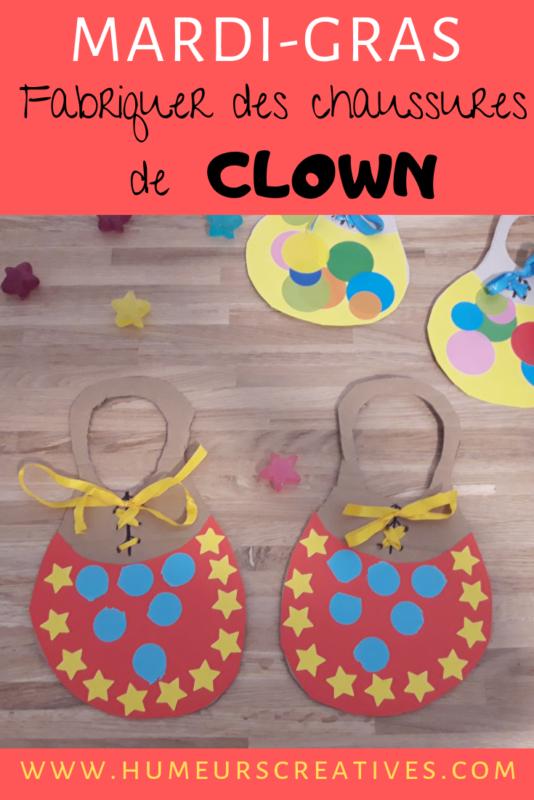 bricolage pour enfant : réaliser des chaussures de clown
