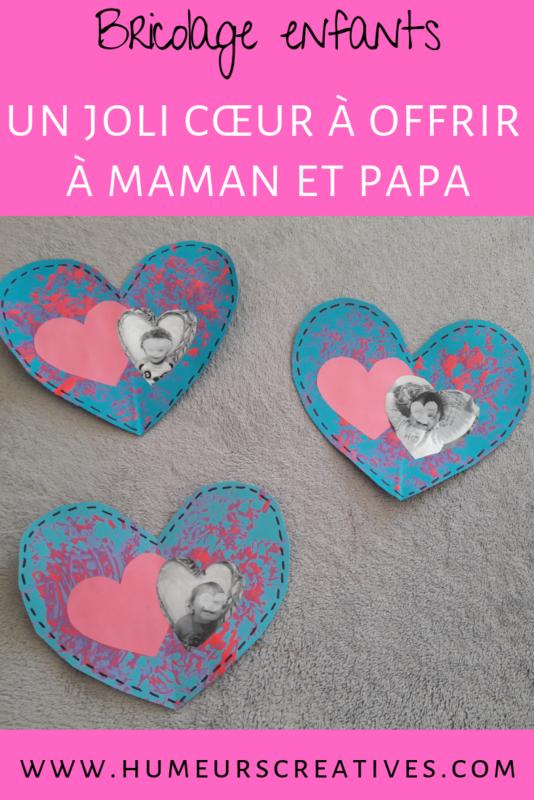 bricolage facile pour enfants : peindre sur des coeurs à l'occasion de la saint valentin