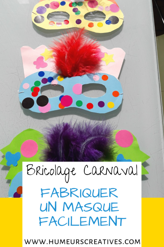 fabriquer des masques de carnaval pour enfants