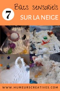 7 idées de bacs sensoriels sur la neige pour les enfants