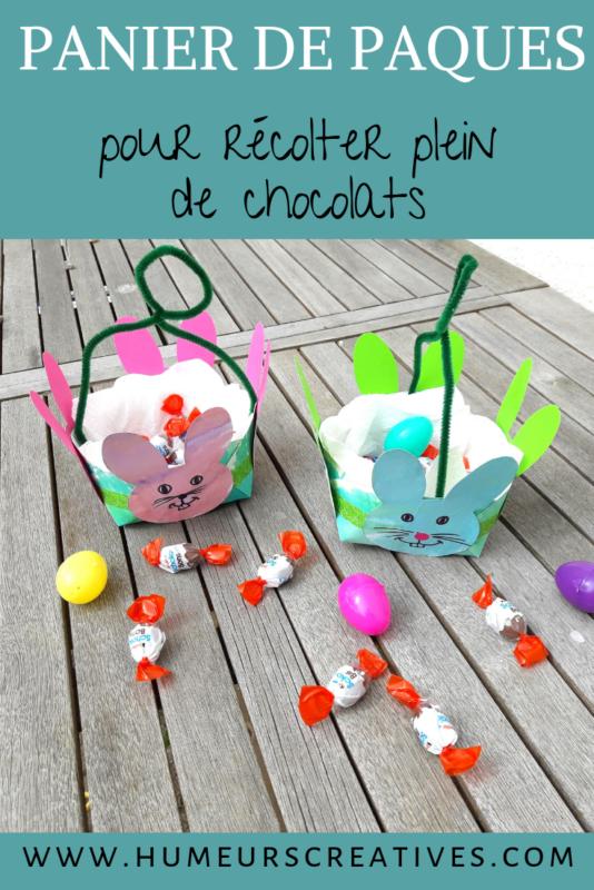 bricolage de paques pour enfants : fabriquer un panier avec une assiette en carton