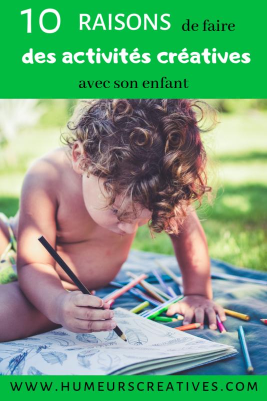 10 raisons de faire des activités créatives avec les enfants