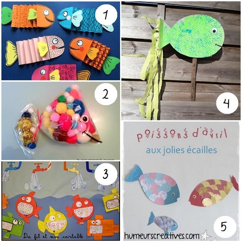 idées de bricolages pour le 1er avril : des poissons à fabriquer avec les enfants