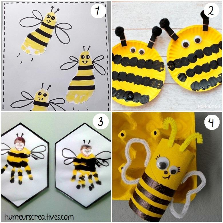 bricolage abeille pour enfants