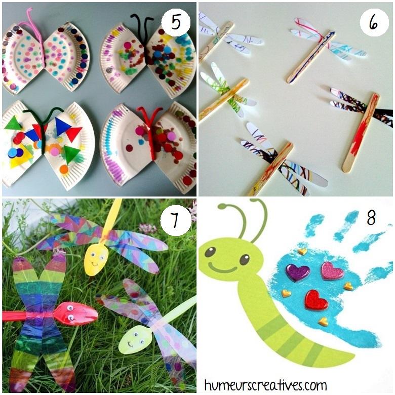 bricolage papillons et libellules pour enfants
