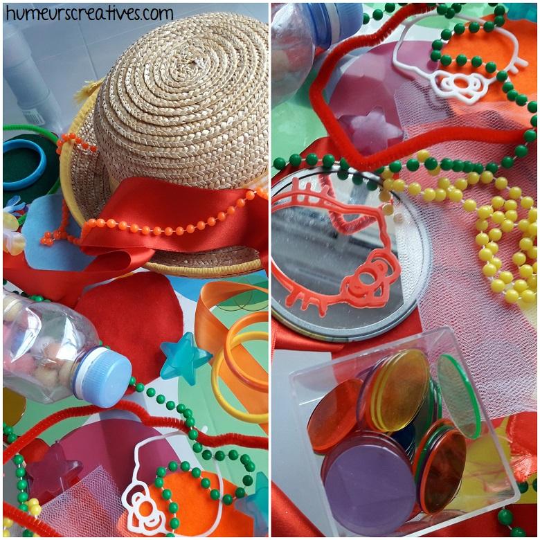 bac sensoriel sur le carnaval