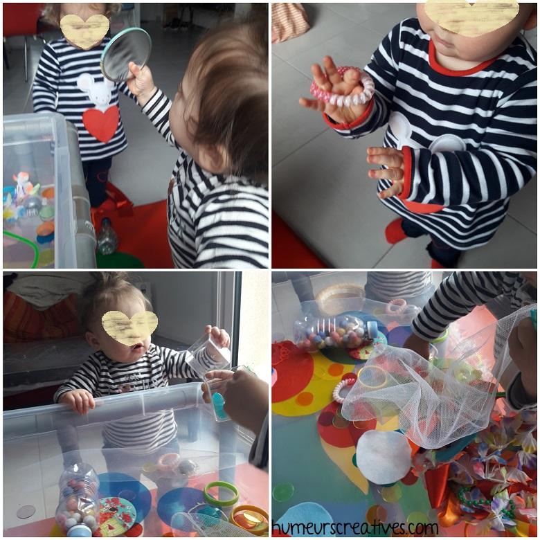 bac sensoriel sur le carnaval, activité sensorielle pour enfants