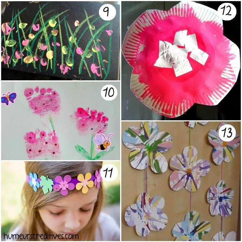 idées de bricolages de fleurs pour enfants