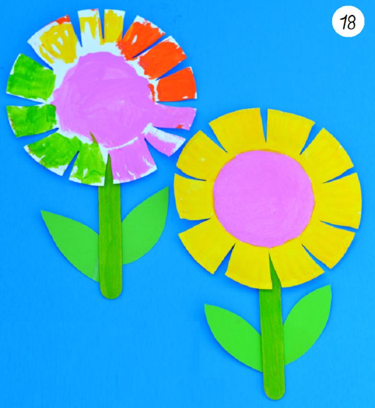 idée bricolage fleurs pour enfants