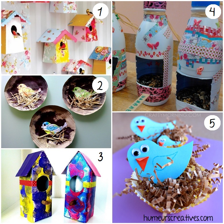 bricolages nid oiseaux pour enfants