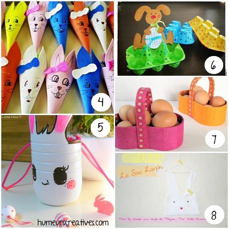 idées pour fabriquer des paniers de paques