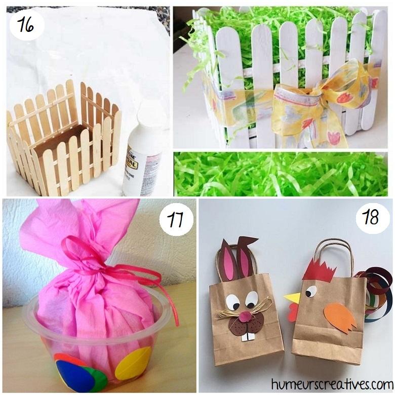 idées bricolages paniers de paques