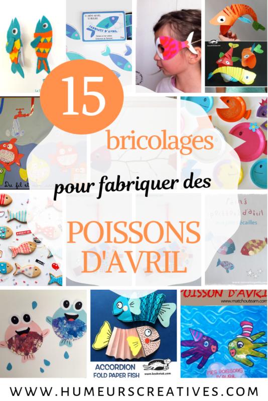 15 idées de bricolages pour fabriquer des poissons d'avril