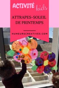 bricolage de printemps pour enfants : réaliser des attrapes soleil en forme de fleurs