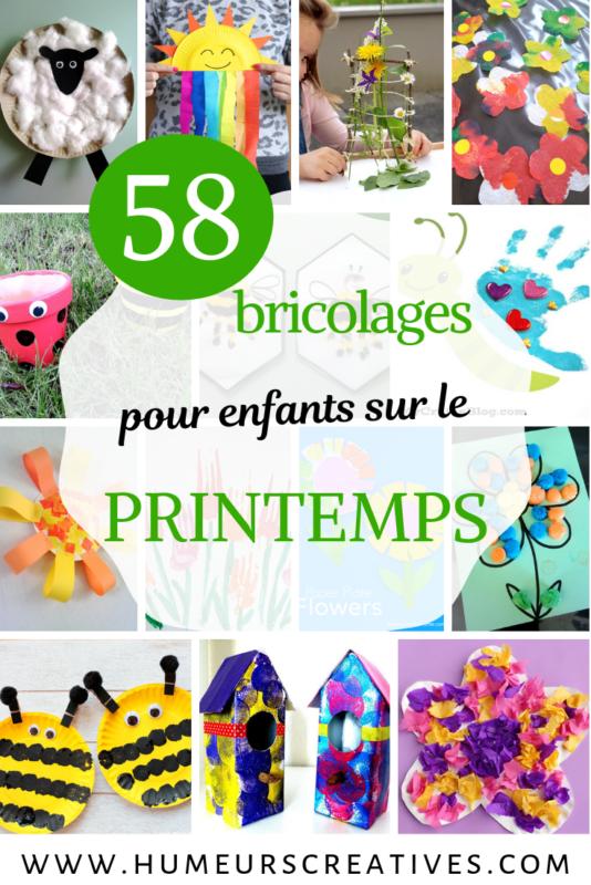 58 idées de bricolages pour enfants sur le printemps