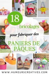 18 bricolages pour fabriquer des paniers de pâques
