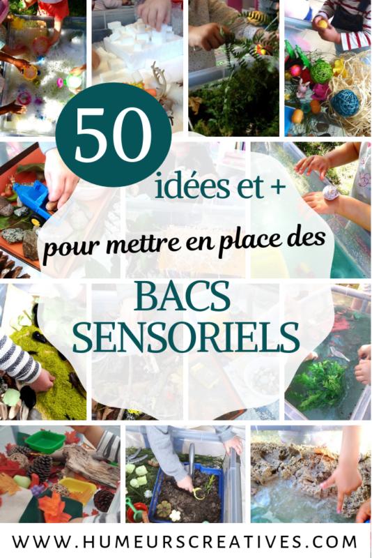 50 idées de matériels pour mettre en place des bacs sensoriels pour enfants
