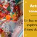 activité sensorielle pour enfants ; un bac sensoriel sur le thème du carnaval