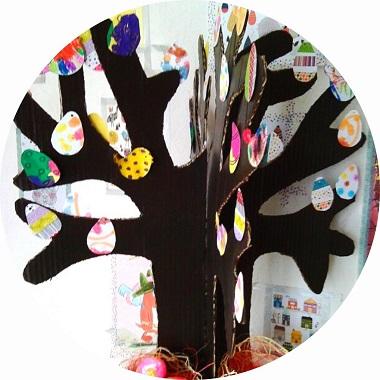 Fabriquer un arbre de Pâques facilement avec les enfants