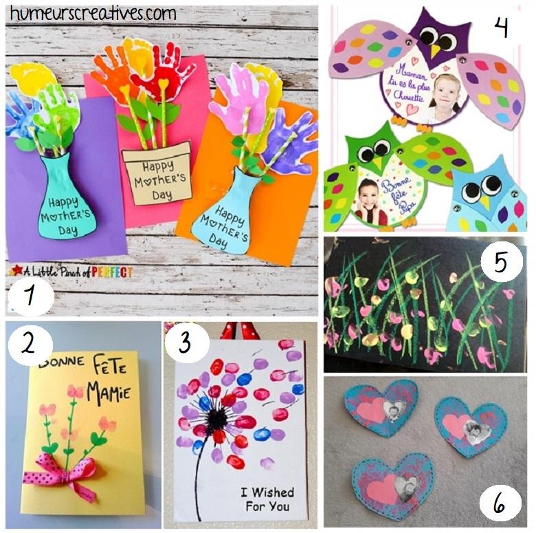 idées de cartes pour la fete des mères
