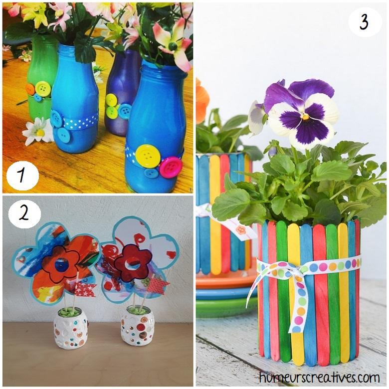 idées de bricolages fleurs et vases pour maman