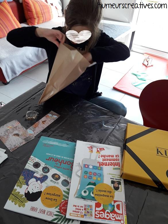 découverte du livre sélectionné par un libraire (box kube)