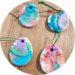 Oeufs de Pâques en pâte auto durcissante + arbre de Pâques