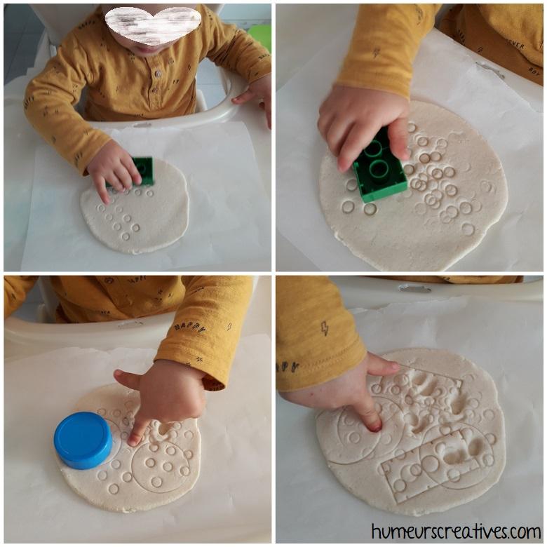 réalisation d'empreintes dans la pâte à sel