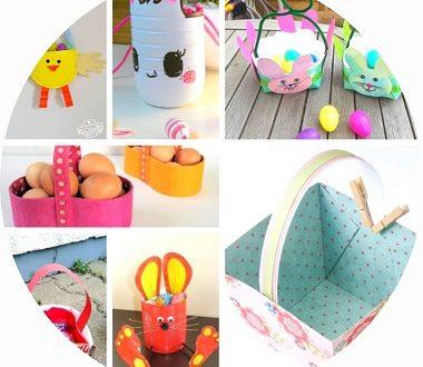 Bricolages paniers de paques à faire avec les enfants