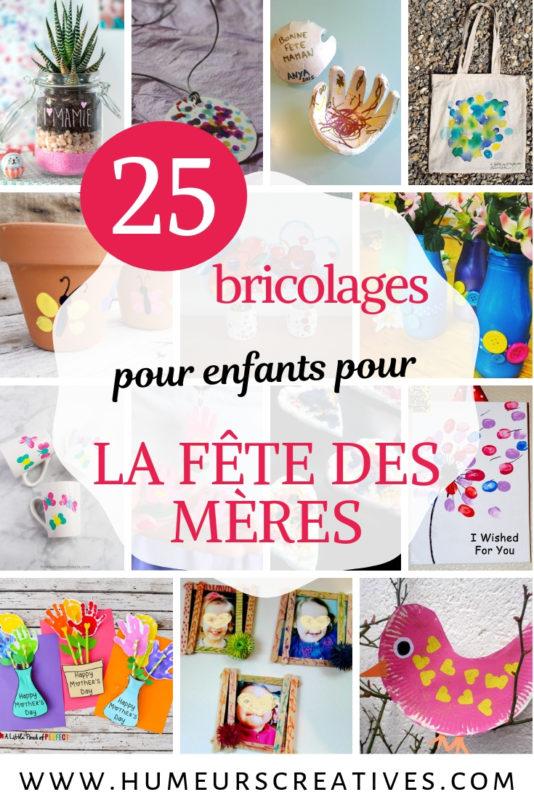 25 bricolages pour la fête des mères, à faire avec les enfants
