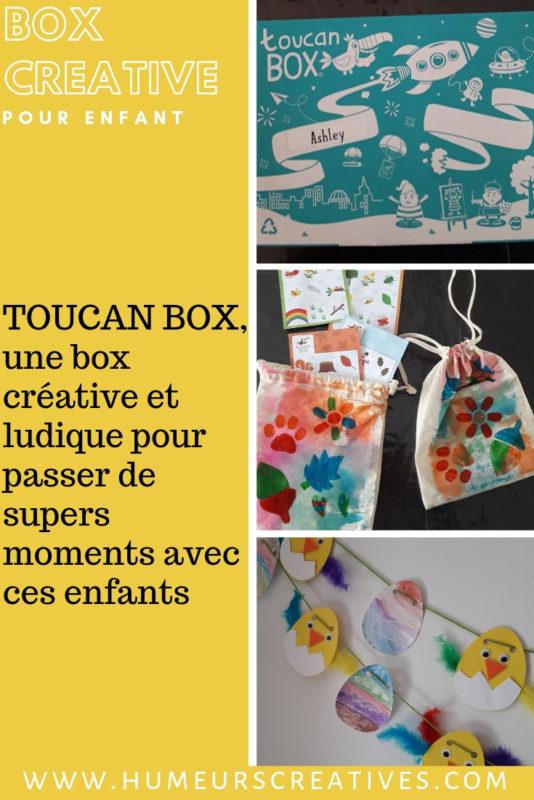 découverte de la toucan box, une box créative pour enfants