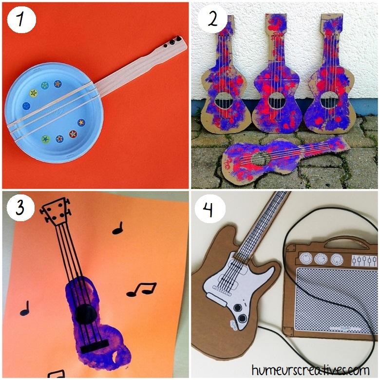 fabriquer des guitares avec les enfants