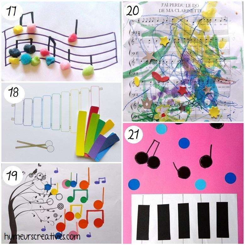 idées d'arts visuels sur la musique à faire avec les enfants