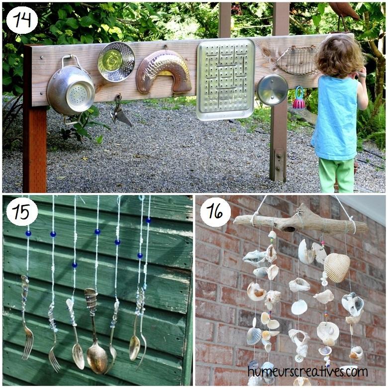 faire de la musique de le jardin avec les enfants