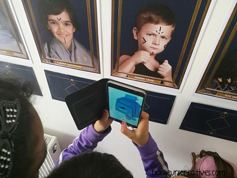 utilisation du telephone avec la réalité augmentée