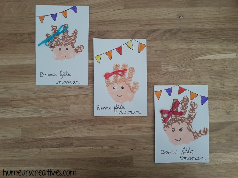 cartes girly pour la fête des mères