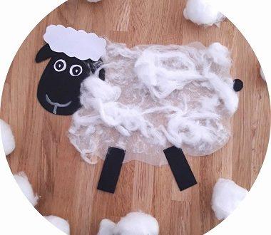 réaliser un mouton en coton avec les enfants