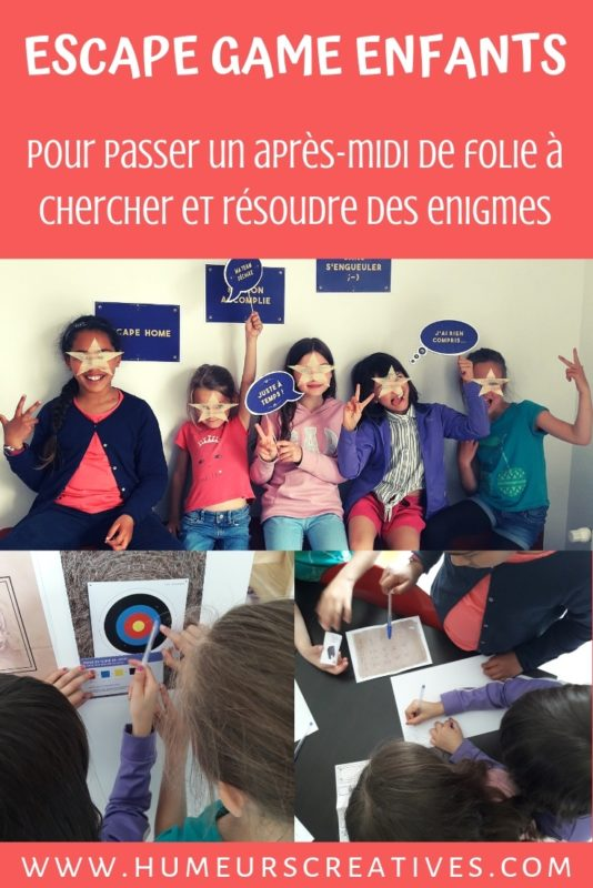 escape game ppur enfants avec happy kits: le talisman magique