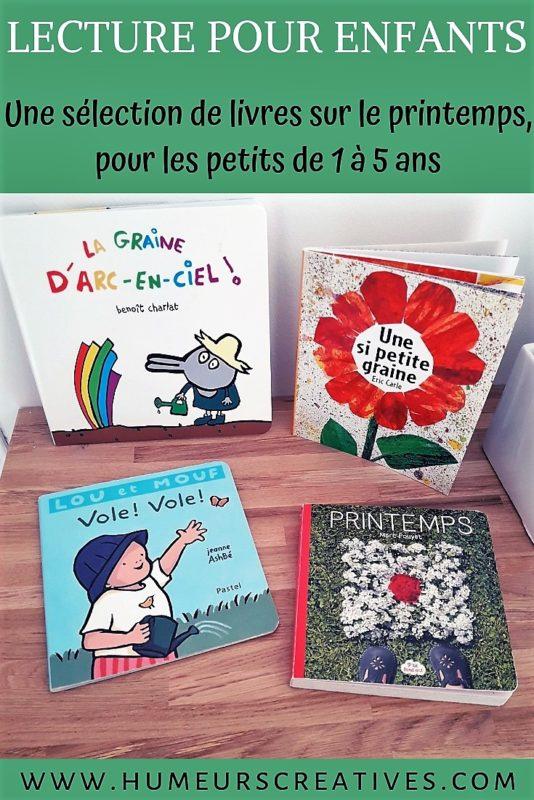 Livres sur le printemps pour les jeunes enfants