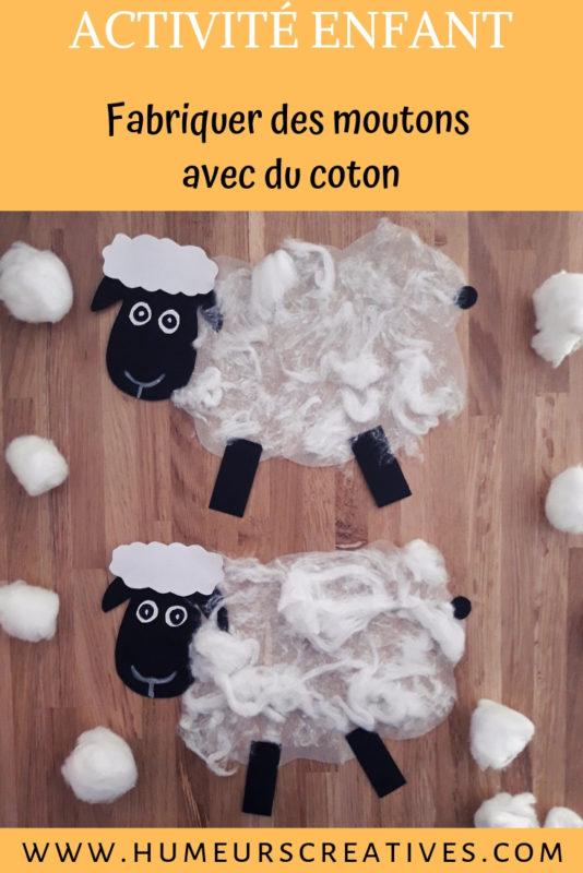 bricolage pour enfants : des moutons à fabriquer avec du coton