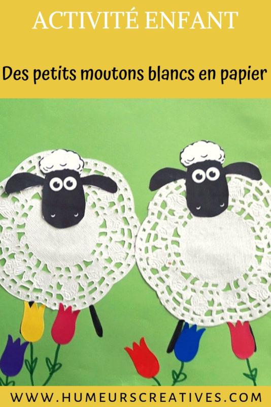 bricolage pour enfants ; des moutons en papier